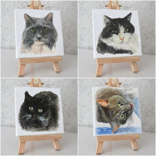 Custom cats portraits